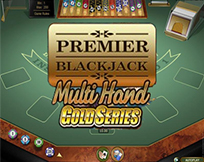 Premier Multi Hand Euro Blackjack Gold